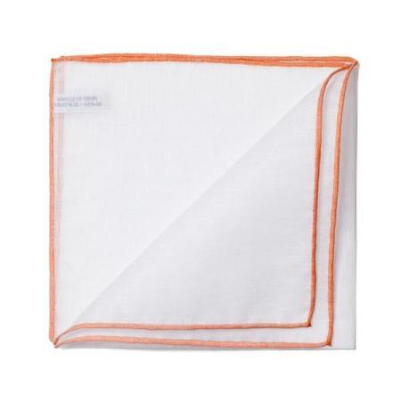 Les essentiels » Mouchoir de poche 8110 à bord orange