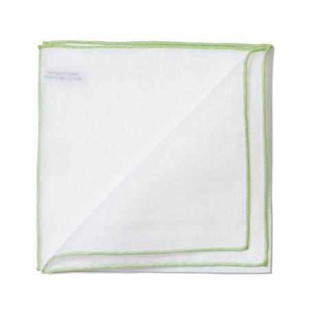 Les essentiels » Pochette blanche à bord vert clair