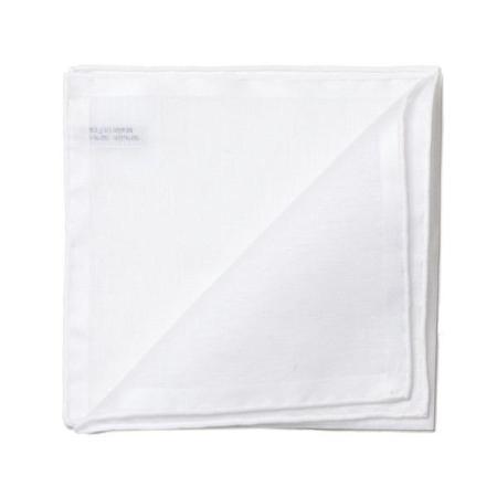 Les essentiels » Mouchoir de poche blanc à satin blanc