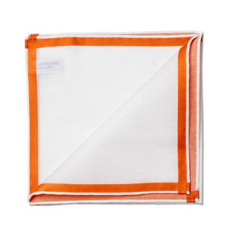 Les essentiels » Pochette blanche à satin orange