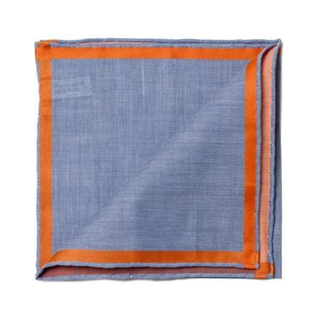 Les essentiels » Pochette bleue à satin orange