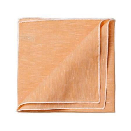 Les essentiels » Mouchoir de poche cuivre  bord blanc