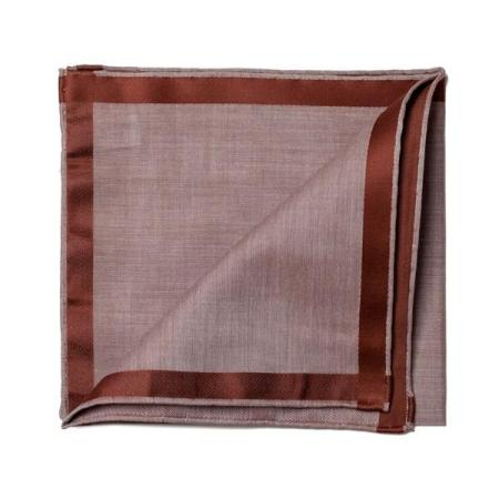 Les essentiels » Mouchoir de poche amalfi marron à satin marron