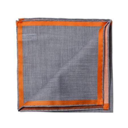 Les essentiels » Pochette noire à satin orange