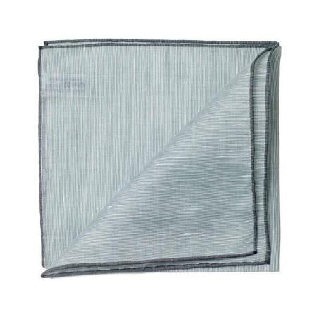 Les essentiels » Mouchoir de poche vert  bord gris
