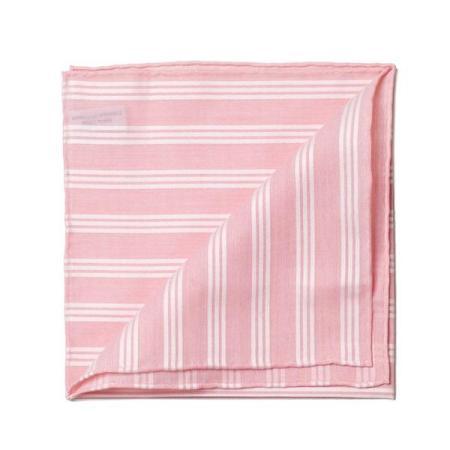 Les essentiels » Mouchoir de poche rose satin blanc