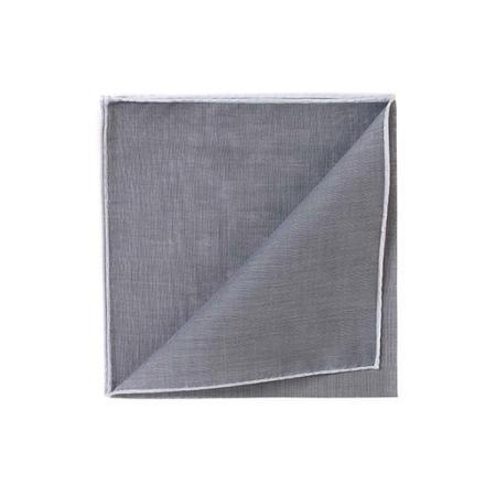 Les essentiels » Mouchoir à bord blanc col. gris