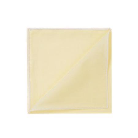 Les essentiels » Mouchoir de poche HR or à bord blanc