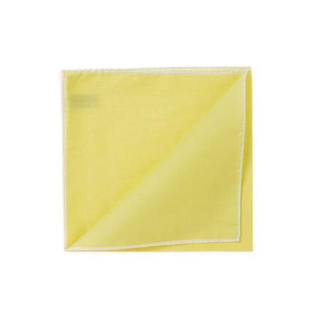 Les essentiels » Mouchoir de poche HR jaune à bord blanc