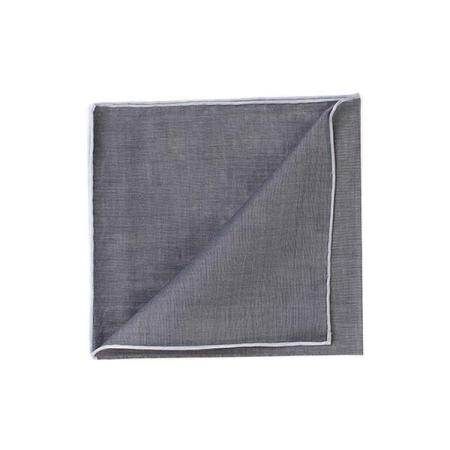 Les essentiels » Mouchoir à bord blanc col. anthracite