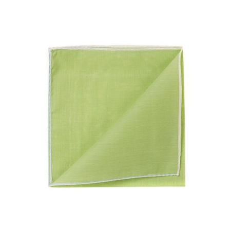 Les essentiels » Mouchoir à bord blanc col. vert fougere