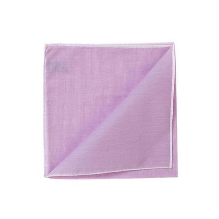 Les essentiels » Mouchoir de poche HR parme à bord blanc