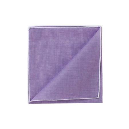 Les essentiels » Mouchoir de poche HR violet à bord blanc