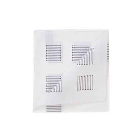 Les essentiels » Mouchoir de poche heracles blanc fil coupé gris