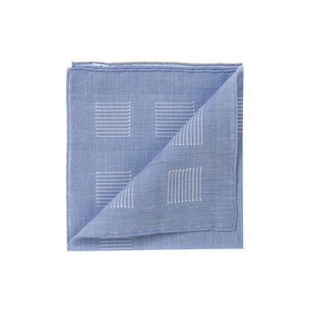 Les essentiels » Mouchoir de poche heracles bleu fil coupé blanc